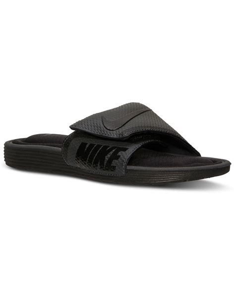 nike comfort slides mens nike s solarsoft comfort slide sandals from finish