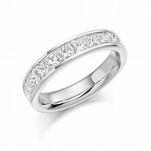 Platinum 15ct princess cut diamonds vintage wedding ring for Platinum princess cut wedding rings