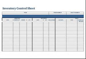 Inventory Control Sheet Template For Excel Excel Templates