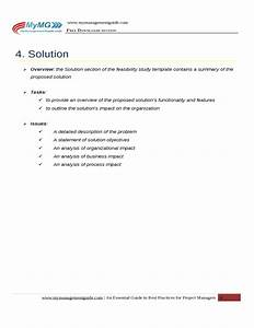 project feasibility study document template free download With feasibility study template free download