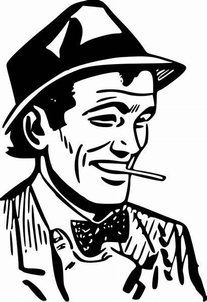Clipart Vektor Gambar Swell Rokok Orang Cowok