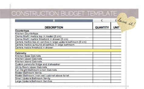 dream home building budget template photo home plans