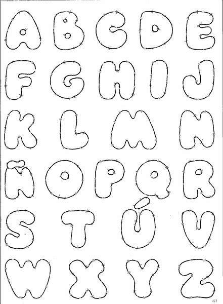 moldes de letras grandes en mayusculas imagui