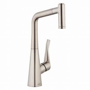 Hans Grohe Metris : hansgrohe metris prep single handle pull out sprayer kitchen faucet in steel optik 04508800 ~ Orissabook.com Haus und Dekorationen