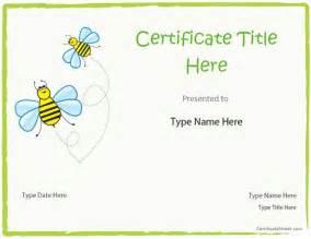 Blank Award Certificate Templates Kids