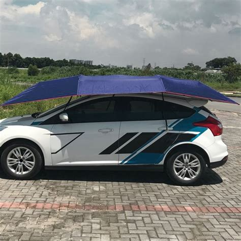 Folding Cer Awning - half automatic awning tent car cover outdoor waterproof