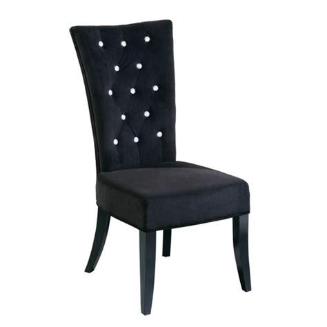 radiance black velvet dining chair 5287 furniture in