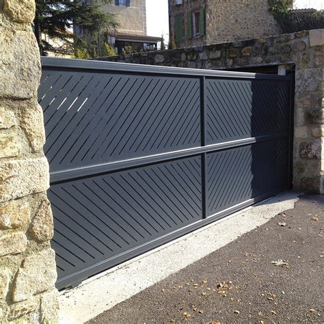 portail alu coulissant portail coulissant alu portail coulissant aluminium