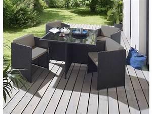 Salon De Jardin En Palette Moderne : salon de jardin 1 table et 4 fauteuils andreas coloris ~ Melissatoandfro.com Idées de Décoration