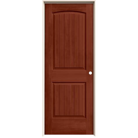 jeld wen doors jeld wen woodgrain 6 panel unfinished pine single prehung