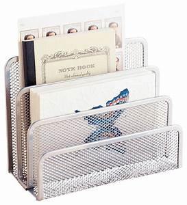 mesh letter holder silver contemporary home decor With mesh letter holder