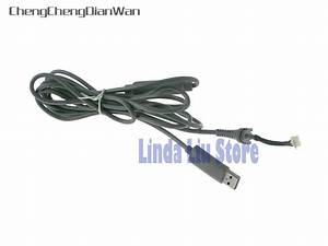 2pcs Black Grey 4pin Wired Controller Interface Cable For