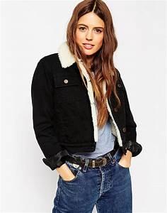 Veste En Jean Doublée Mouton Femme : asos veste courte en jean avec doublure asos pickture ~ Melissatoandfro.com Idées de Décoration
