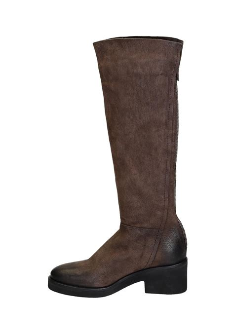 vic matie knee high boots  brown suede leather italian boutique