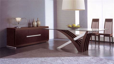 luxury  wood  clear glass top leather italian dining