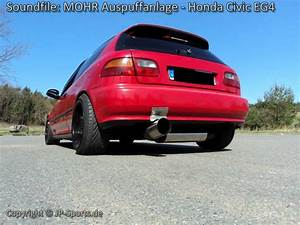 Honda Civic Eg4 : honda civic eg4 mit 1x130mm mohr sportauspuff von jp ~ Farleysfitness.com Idées de Décoration