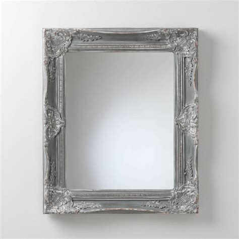 distressed mirror glass painted vintage grey mirror by crafted mirrors