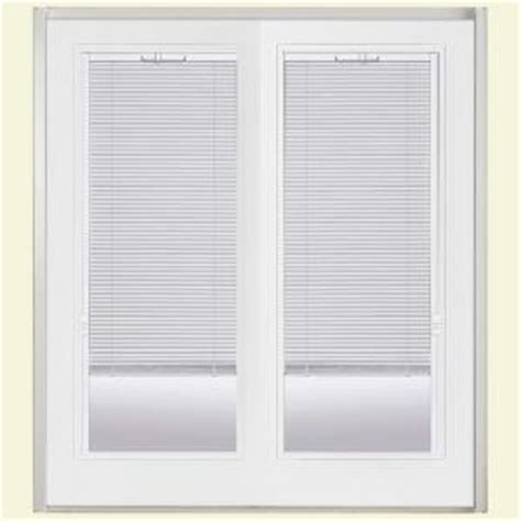 Masonite Patio Doors With Mini Blinds by Masonite 60 In X 80 In Primed White Prehung Right