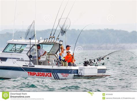 Fishing Boat Dealers In Ontario by Downrigger Fishing Rods For Salmon Lake Trout Editorial