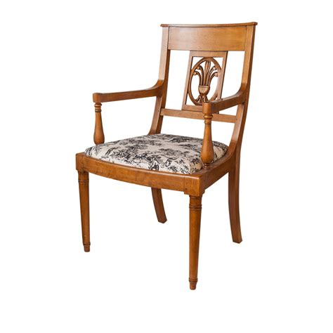 pair chairs toile fabric on antique row