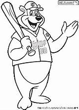 Twins Coloring Bear Mascot Pages Mlb Minnesota Community sketch template