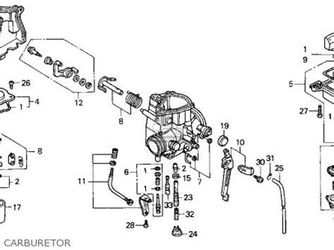honda trx300ex fourtrax 300ex 1994 r usa parts lists and schematics