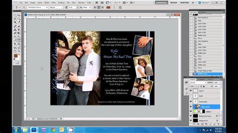design wedding invitations  photoshop youtube