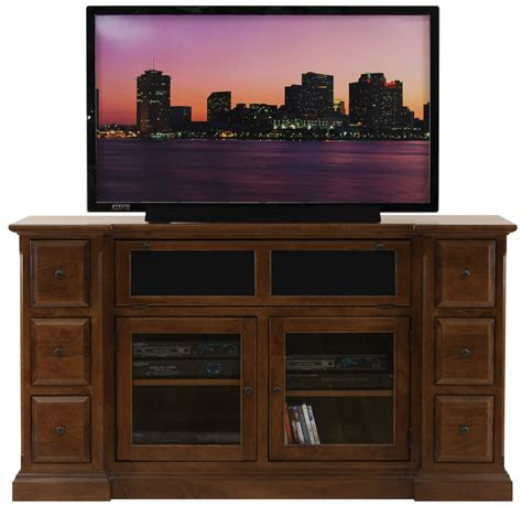 Decorating Kitchen Shelves Ideas - dark brown wooden tv stand with two shelves on the middle between frosted glass door storage