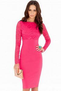 pink dresses for wedding guests With hot pink dress for wedding guest