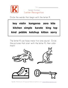 Letter D Words  Alphabet Recognition Page  Kids Learning