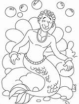 Merman Coloring Pages Clipart Line Printable Library Clip Getdrawings Getcolorings Popular sketch template