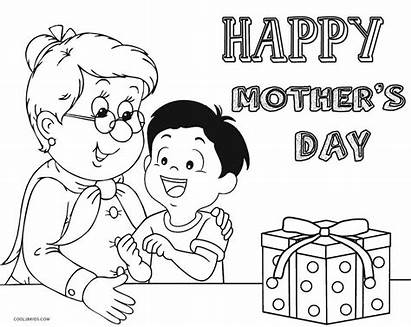 Happy Coloring Mothers Grandma Pages Printable Birthday
