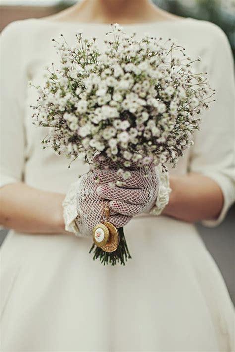 7 kwiat 243 w bukiet ślubny z kaszki gips 243 wki trendy ślubne 2014