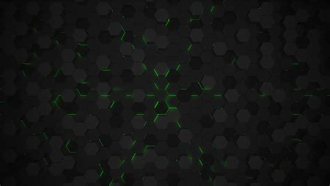 3d Vector Picture by Green 3d Hexagon Tech Background Vector Illustration
