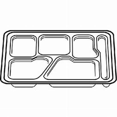 Tray Lunch Clipart Empty Cafeteria Clip Trays