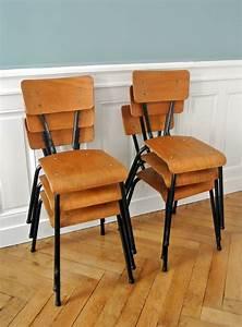 Chaise Industrielle Vintage : suite de 6 chaises industrielles solveig vintage kids ~ Teatrodelosmanantiales.com Idées de Décoration