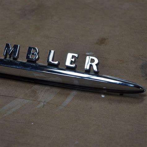 rambler car logo amc rambler american trunk emblem 62 63 nostalgic parts