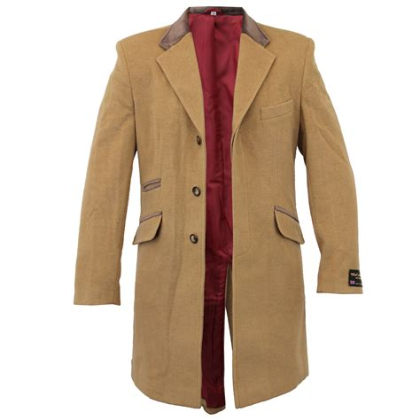 Mens Coat Wool Jacket Cashmere Casual Outerwear Overcoat Trench Lining Winter   eBay