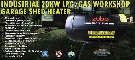 industrial kw lpggas workshop garage shed heater