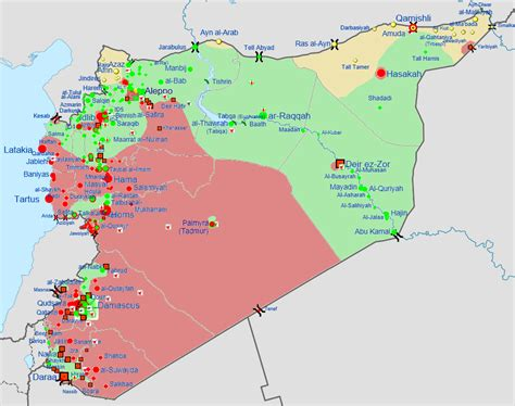 map   current situation   syrian civil war