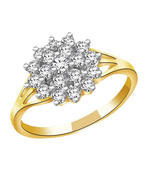 sparkles kt gold floral design ring  real diamonds