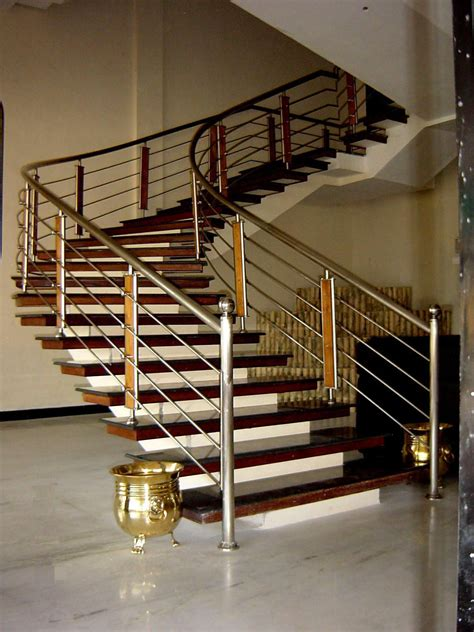 Staircase Ss Railing Design by Stainless Steel Staircase Railings Ss Staircase Railings