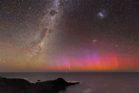 Red Aurora Over Australia Far Away Astronomy