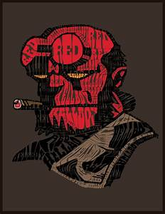 Hellboy Text Art by stevenater on DeviantArt