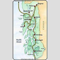 Alaska Marine Highway Inside Passage Map  Alaska In 2019  Alaska Travel, Alaska, Fairbanks Alaska