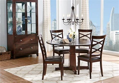 riverdale cherry  pc  dining room dining room sets dark wood
