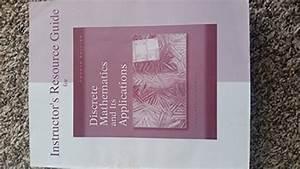 9780072899078  Discrete Mathematics And Its Applications