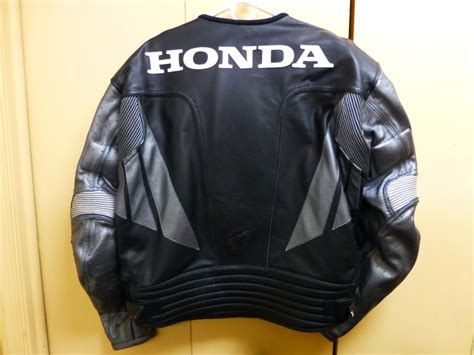 Joe Rocket Men's Honda Leather Motorcycle Jacket W/ Pads