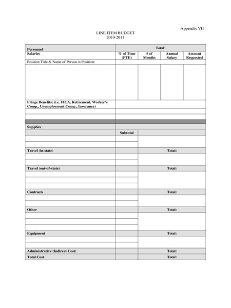 line item budget template line item budget form 2 free templates in pdf word