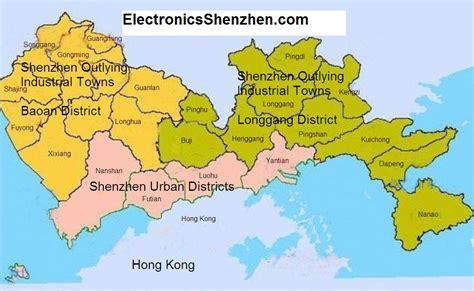 Shenzhen Districts Map English, Browse Info On Shenzhen